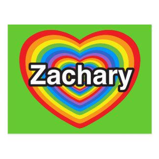 I love Zachary. I love you Zachary. Heart Postcard