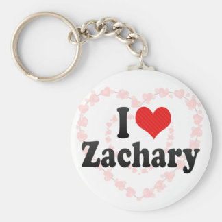 I Love Zachary Key Chains