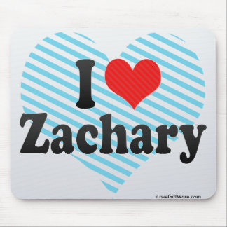 I Love Zachary Mouse Pads