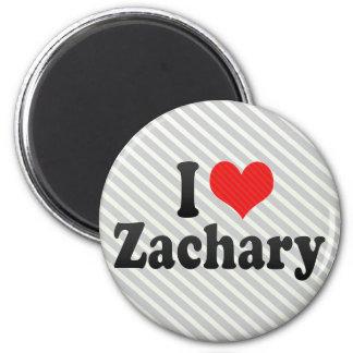 I Love Zachary Refrigerator Magnet