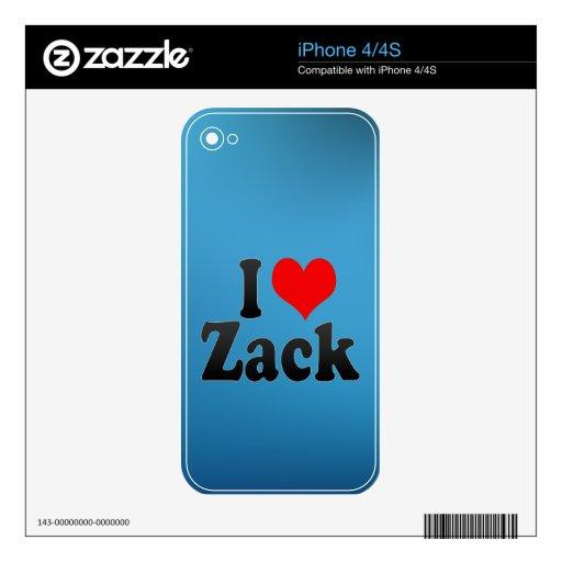 I love Zack iPhone 4S Decal
