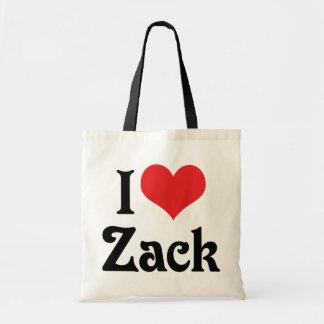I Love Zack Tote Bag