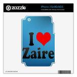 I love Zaire iPhone 3GS Skin