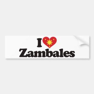 I Love Zambales Bumper Sticker