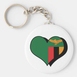 I Love Zambia Keychain