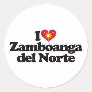 I Love Zamboanga del Norte Classic Round Sticker