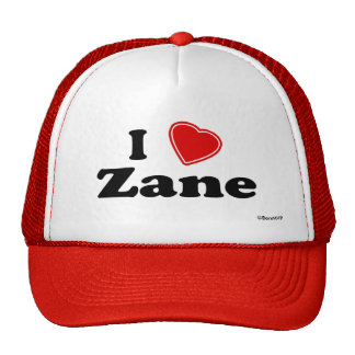 I Love Zane Trucker Hat
