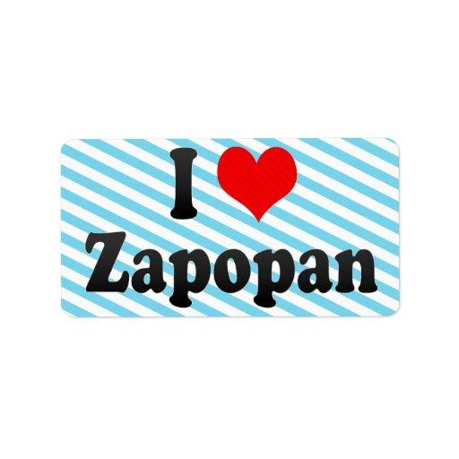 I Love Zapopan, Mexico Custom Address Labels