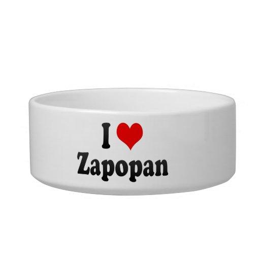 I Love Zapopan, Mexico Cat Bowl