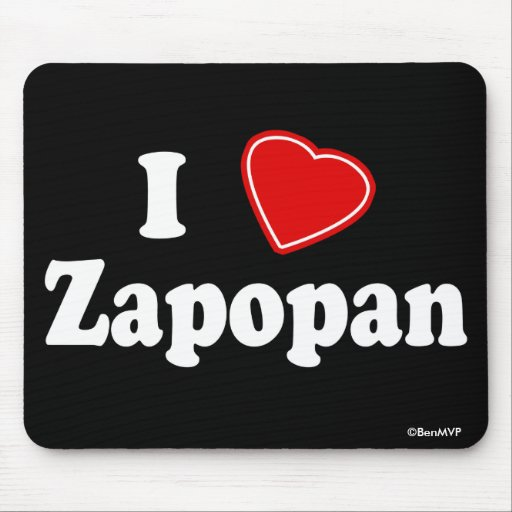 I Love Zapopan Mouse Pad