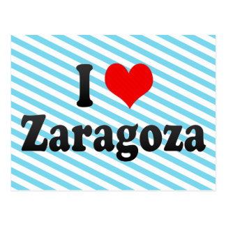 I Love Zaragoza, Spain Postcard