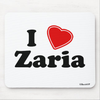 I Love Zaria Mouse Pad