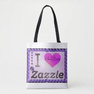 I Love Zazzle Boss Lady Diamonds Tote Bag
