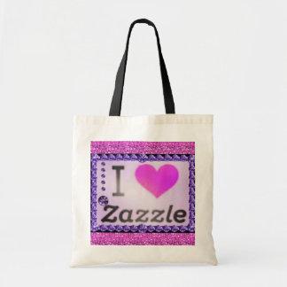 I Love Zazzle Diamonds Budget Tote