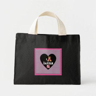 I Love Zazzle Diamonds Heart Mini Tote Bag