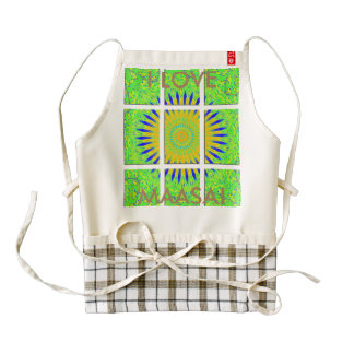 I LOVE ZAZZLE HEART APRON