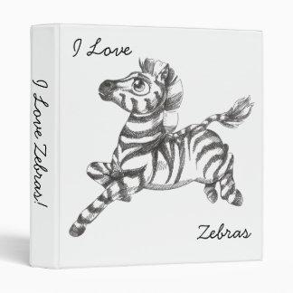 I Love Zebras! Binder