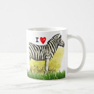 I Love Zebras Coffee Mug