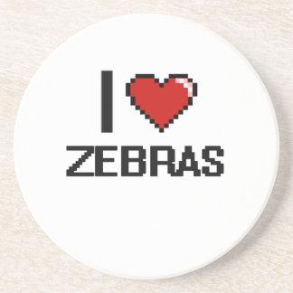 I love Zebras Digital Design Beverage Coasters