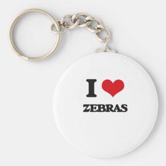 I love Zebras Key Chain