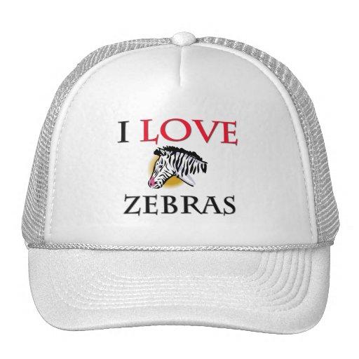 I Love Zebras Mesh Hat