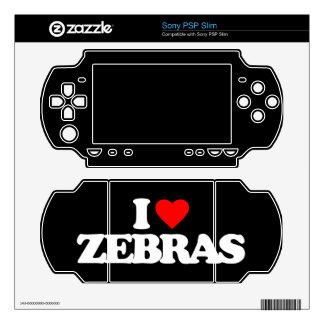 I LOVE ZEBRAS DECALS FOR PSP SLIM