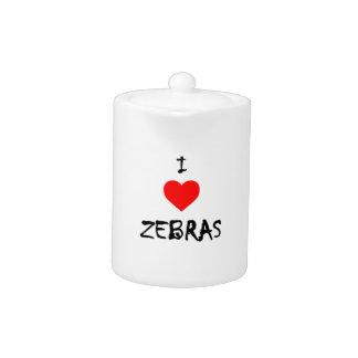 I Love Zebras Teapot