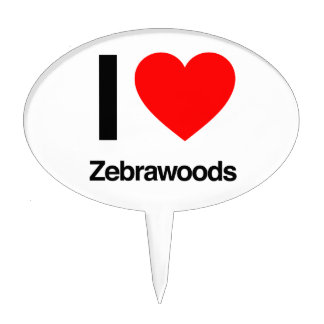 i love zebrawoods cake toppers