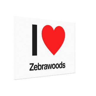 i love zebrawoods gallery wrap canvas