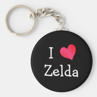 I Love Zelda Keychain