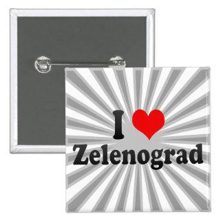 I Love Zelenograd, Russia Pinback Buttons