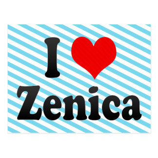 I Love Zenica, Bosnia and Herzegovina Postcard