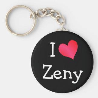 I Love Zeny Keychain