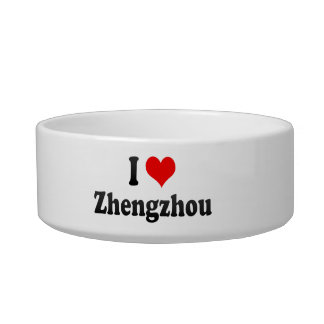 I Love Zhengzhou, China Cat Water Bowls
