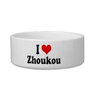 I Love Zhoukou, China Cat Food Bowl