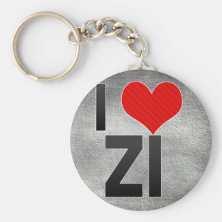 I Love ZI Keychain