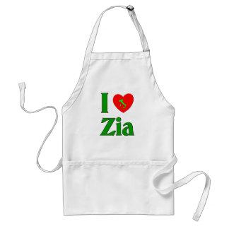 I Love Zia Adult Apron
