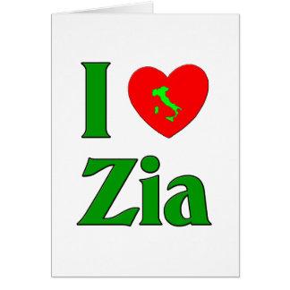 I Love Zia Card