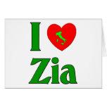 I Love Zia (Italian Aunt) Card