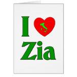 I Love Zia (Italian Aunt) Cards