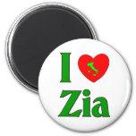 I Love Zia (Italian Aunt) Refrigerator Magnets