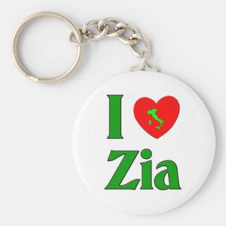 I Love Zia Keychain