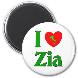 I Love Zia Refrigerator Magnet