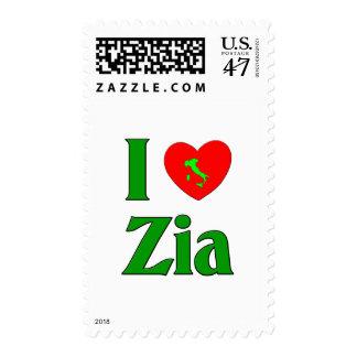 I Love Zia Postage Stamp