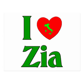 I Love Zia Postcard