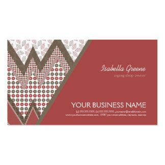 I Love ZigZag Pattern Business Card