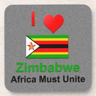 I Love Zimbabwe, Africa Must Unite Beverage Coaster