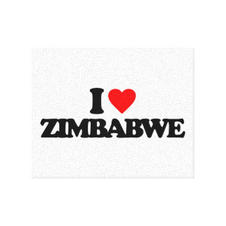 I LOVE ZIMBABWE STRETCHED CANVAS PRINTS