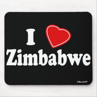 I Love Zimbabwe Mouse Pad