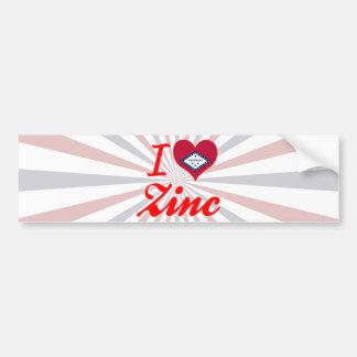 I Love Zinc, Arkansas Bumper Sticker